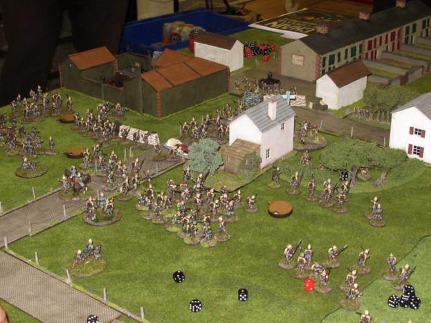 Germans swarming the village of Le Cateau